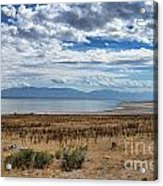 View Of Wasatch Range From Antelope Island Acrylic Print