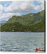View On Lake Lure Acrylic Print