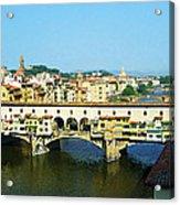 View On Ponte Vecchio From Uffizi Gallery Acrylic Print