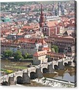 View Onto The Town Of Wuerzburg - Germany Acrylic Print