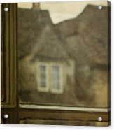 View Out An Old Window Acrylic Print