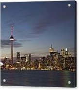 View Over Lake Ontario Of The Downtown Acrylic Print