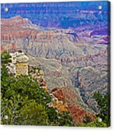 View Seven From Walhalla Overlook On North Rim Of Grand Canyon-arizona Acrylic Print