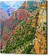 View Six From Walhalla Overlook On North Rim Of Grand Canyon-arizona Acrylic Print