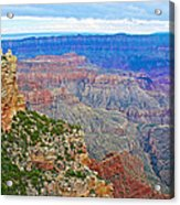 View Three From Walhalla Overlook On North Rim Of Grand Canyon-arizona  Acrylic Print