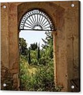 View Through The Monastery Window Acrylic Print