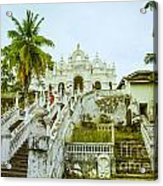 view to the Dodanduwa Temple Acrylic Print