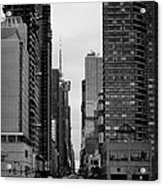 View Up West 42nd Street From The Hudson River New York City Acrylic Print