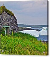 Viking House On Fishing  Point In Saint Anthony-nl Acrylic Print