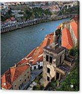 Vila Nova De Gaia And Porto In Portugal Acrylic Print