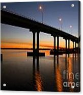 Vilano Bridge At Dusk St Augustine Florida Acrylic Print