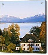 Villa At The Waterfront, Lake Zurich Acrylic Print