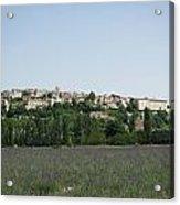 Village Beyond The Lavender Field Acrylic Print