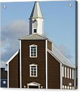 Village Church Of Eyrarbakki Acrylic Print by Michael Thornton