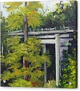 Village Creek Bridge Acrylic Print