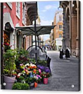 Village Flowershop Acrylic Print
