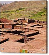 Village In Atlas Mountains In Morocco Acrylic Print