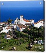 Village In Azores Islands Acrylic Print