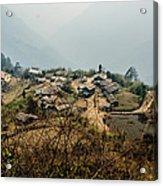 Village In Sikkim Acrylic Print