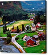 Village In The Mountains Acrylic Print
