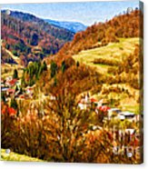 Village In The Valley Acrylic Print