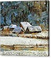 Village In Winter Acrylic Print