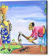 Village Life In Cameroon 01 Acrylic Print