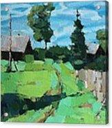 Village Meadow Acrylic Print