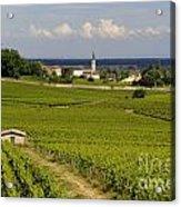 Village Of Aloxe Corton. Cote D'or. Burgundy. France Acrylic Print