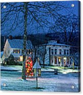 Village Of New Milford - Winter Panoramic Acrylic Print by Thomas Schoeller