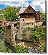 Village Of Rastoke River Canyon Acrylic Print