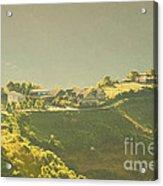 Village On Mountain Acrylic Print