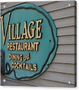 Village Restaurant Acrylic Print