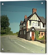 Village Scene In Middle Mayfield, The Rose And Crown Public Acrylic Print