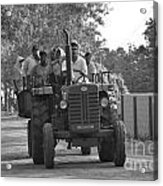 Village Tractor  Acrylic Print by Bobby Mandal