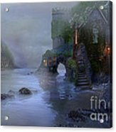 Villages By The Foggy Sea II Acrylic Print