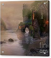 Villages By The Foggy Sea   Acrylic Print