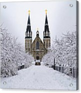 Villanova University In The Snow Acrylic Print