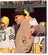 Vince Lombardi In Trench Coat Acrylic Print