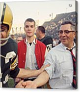 Vince Lombardi Shaking Hands Acrylic Print by Retro Images Archive