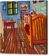 Vincents Bedroom In Arles For Surfers-amadeus Series Acrylic Print