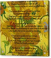 Vincent's Sunflower Song Acrylic Print