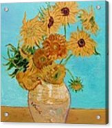 Vincent's Sunflowers Acrylic Print