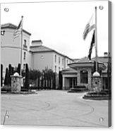 Vineyard Creek Hyatt Hotel Santa Rosa California 5d25787 Bw Acrylic Print