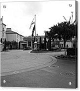 Vineyard Creek Hyatt Hotel Santa Rosa California 5d25789 Bw Acrylic Print