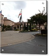 Vineyard Creek Hyatt Hotel Santa Rosa California 5d25789 Acrylic Print by Wingsdomain Art and Photography