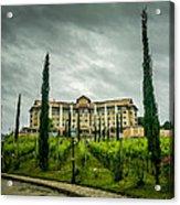 Vineyards And Chateau Acrylic Print by Fabio Giannini