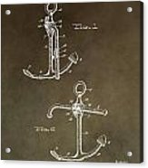 Vintage 1902 Anchor Patent Acrylic Print