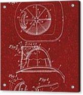 Vintage 1932 Firemans Helmet Patent Acrylic Print