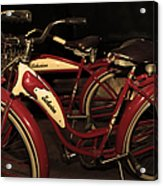 Vintage 1941 Boys And 1946 Girls Bicycle 5d25760 Sepia2 Acrylic Print
